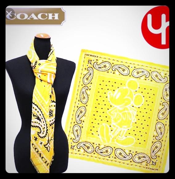 de4950cc7e Coach Accessories | New Disney X Mickey Mouse Bandana Scarf | Poshmark